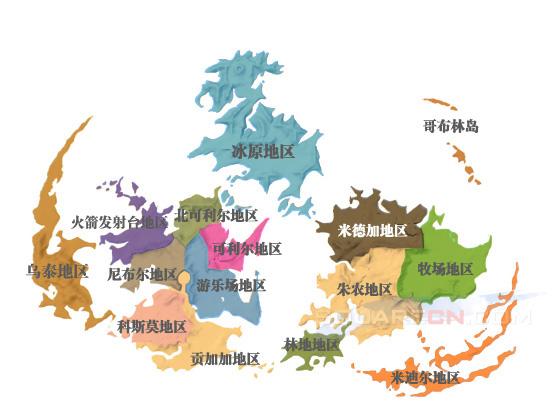 世界地图-最终幻想7